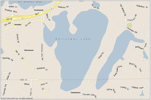 Map of Christmas Lake